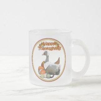 Thanksgiving White Duck Pilgrim Girl Mugs