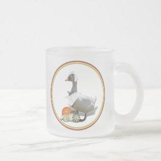 Thanksgiving White Duck Pilgrim Girl Coffee Mug