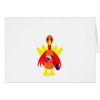 Thanksgiving Wine Drinking Turkey Card