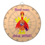 Thanksgiving Wine Drinking Turkey Dart Board