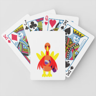 Thanksgiving Wine Drinking Turkey Playing Cards