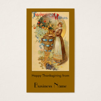 Thanksgiving Wishes Business Card