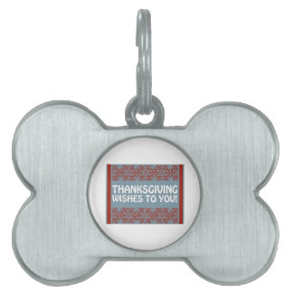Thanksgiving Wishes Pet ID Tag