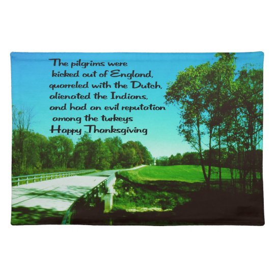 Thanksgiving wishes placemat