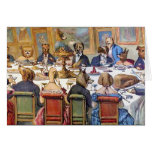 """Thanksgiving with Dogs aka """"Dogs Dinner Party """" Cards"""