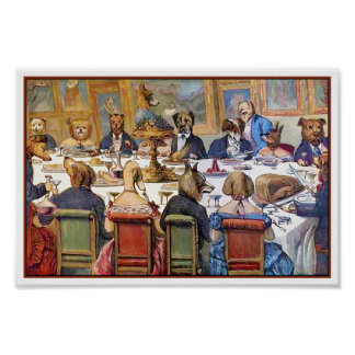 """Thanksgiving with Dogs aka """"Dogs Dinner Party"""" Poster"""