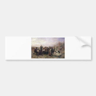 Thanksgiving With The Pilgrims Bumper Stickers