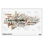 Thanksgiving Word Cloud Room Graphics