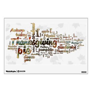 Thanksgiving Word Cloud Wall Decal