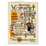 Thanksgiving Wordcloud - Granddaughter Cards