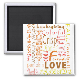Thanksgiving Words Magnet