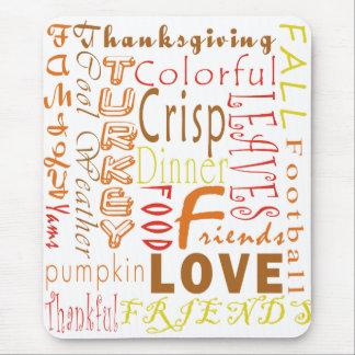 Thanksgiving Words Mousepad