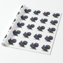Thanksgiving Wrapping Paper Vintage Turkey