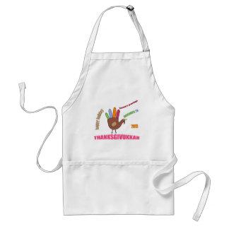 Thanksgivukkah 2013 adult apron