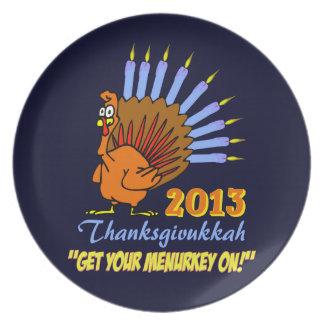 Thanksgivukkah 2013 consigue su Menurkey en la pla Plato De Comida