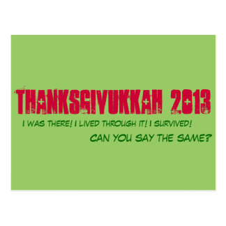 Thanksgivukkah 2013 - Postcard