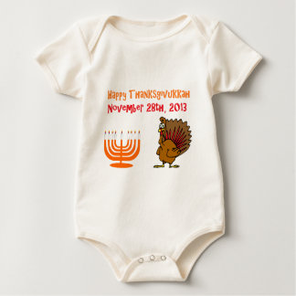 Thanksgivukkah 28 de noviembre de 2013 feliz traje de bebé