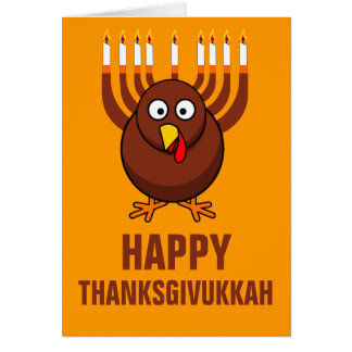 Thanksgivukkah feliz 2013 felicitacion