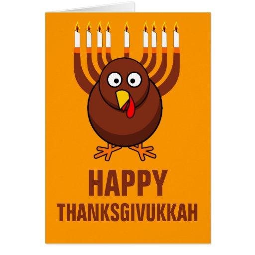 Thanksgivukkah feliz 2013 tarjeta de felicitación