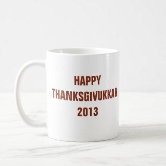 Thanksgivukkah feliz 2013 tazas