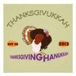 Thanksgivukkah feliz, acción de gracias y Jánuca Anuncios Personalizados