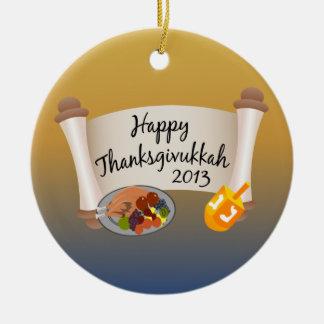 Thanksgivukkah feliz Dreidl 2013 Turquía Ornato
