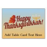 Thanksgivukkah feliz Menorah/hoja