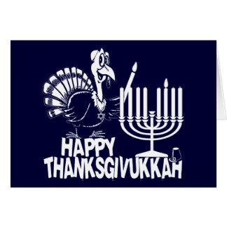 Thanksgivukkah feliz Turquía y tarjetas de Menorah