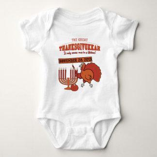 'Thanksgivukkah festivo Body Para Bebé