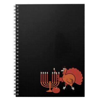 'Thanksgivukkah festivo Libros De Apuntes Con Espiral