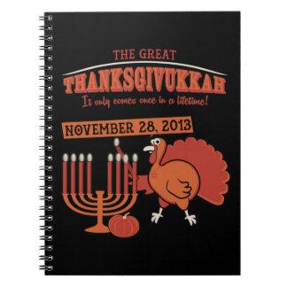 'Thanksgivukkah festivo Cuadernos