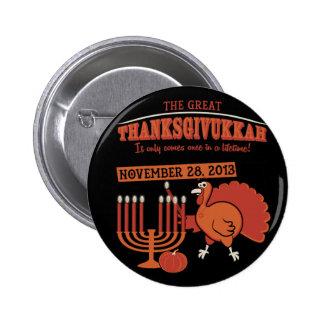 'Thanksgivukkah festivo Pin Redondo 5 Cm