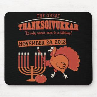 Thanksgivukkah festivo tapetes de raton