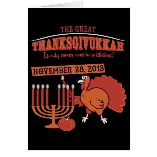 'Thanksgivukkah festivo Felicitacion