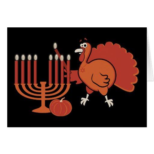 'Thanksgivukkah festivo Tarjetas
