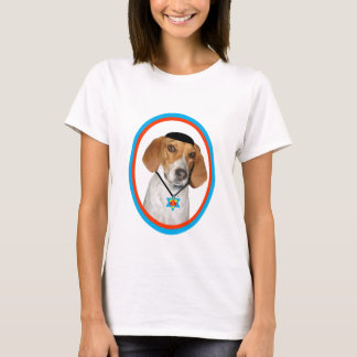 Thanksgivukkah Funny Hound Dog with Yamaka T-Shirt
