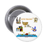 THANKSGIVUKKAH GIVE THANKS GIFTS  FOR HANUKKAH PINBACK BUTTON