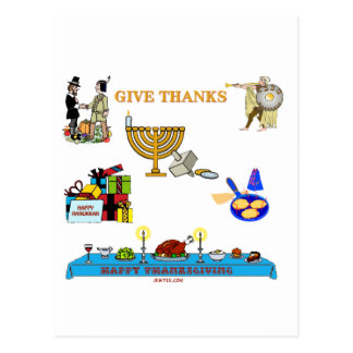 THANKSGIVUKKAH GIVE THANKS GIFTS  FOR HANUKKAH POST CARD
