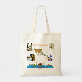 THANKSGIVUKKAH GIVE THANKS GIFTS  FOR HANUKKAH TOTE BAG