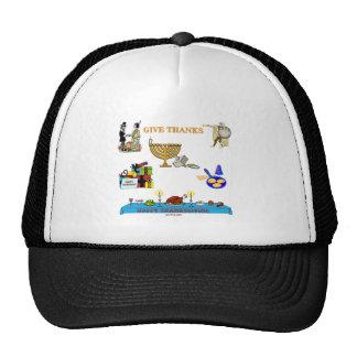 THANKSGIVUKKAH GIVE THANKS GIFTS  FOR HANUKKAH TRUCKER HAT