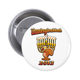 Thanksgivukkah Hannukah Thanksgiving Gift Humor a Button