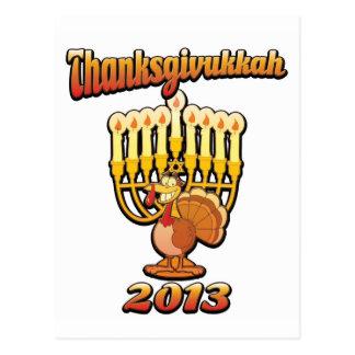 Thanksgivukkah Hannukah Thanksgiving Gift Humor a Postcard