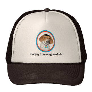 Thanksgivukkah Hat Funny Hound Dog with Yamaka