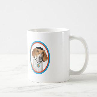 Thanksgivukkah Mug Funny Hound Dog with Yamaka