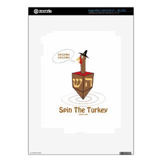 THANKSGIVUKKAH SPIN THE TURKEY HANUKKAH GIFTS SKINS FOR iPad 3