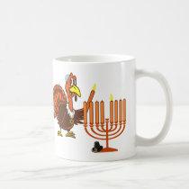 Thanksgivukkah Turkey Lighting Menorah Coffee Mug