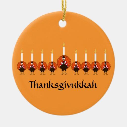 Thanksgivukkah Turkey Menorah Ornament
