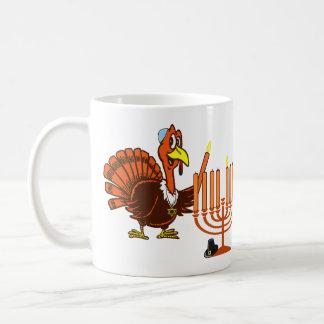 Thanksgivukkah Turquía que enciende la taza de caf