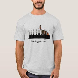 Thanksgivukkah Turquía y camiseta de Menorah