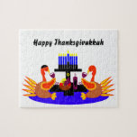 Thanksgivukkah Wine Toasting Turkeys Puzzle